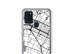 Mettez une carte de ville sur votre coque Galaxy A21s