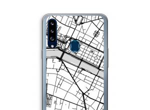 Mettez une carte de ville sur votre coque Galaxy A20s