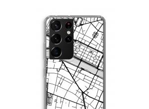Mettez une carte de ville sur votre coque Samsung Galaxy S21 Ultra
